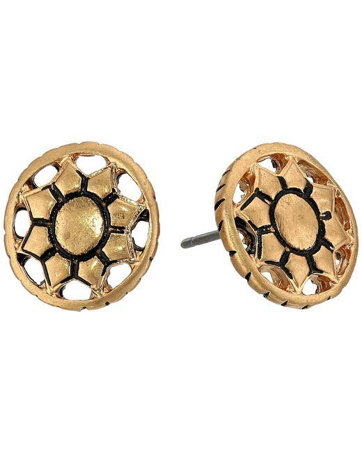 The Sak - Metallic Engraved Open Stud Earrings (silver) Earring - Lyst