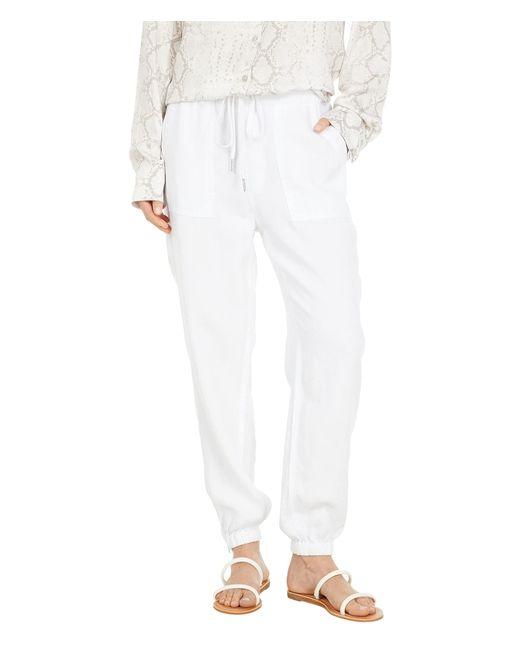Joe's Jeans White Workwear Linen Joggers