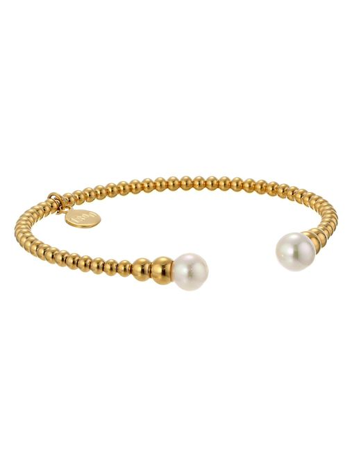 Majorica - Metallic 8mm Round Pearl Bangle Bracelet (silver/white) Bracelet - Lyst