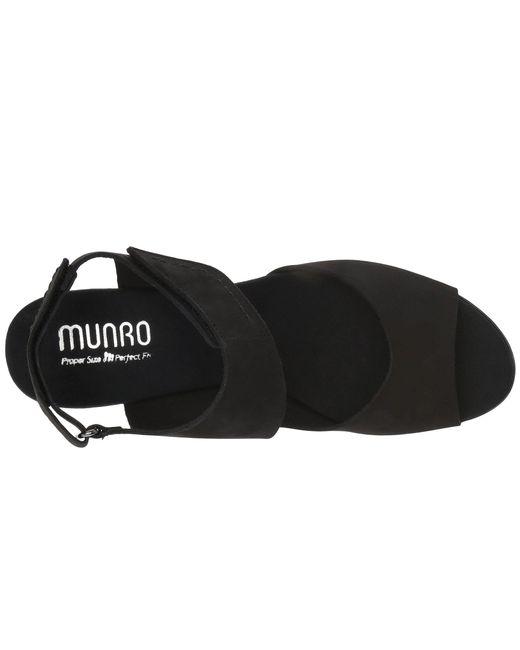 522a582604d Lyst - Munro Fabiana (black Nubuck) Women s Sandals in Black