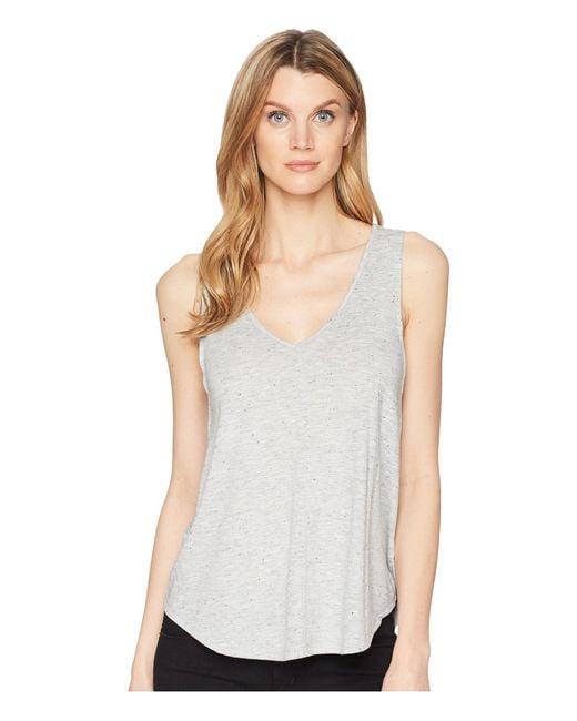 Lilla P - Gray V-neck Tank Top (grey Nep) Women's Sleeveless - Lyst