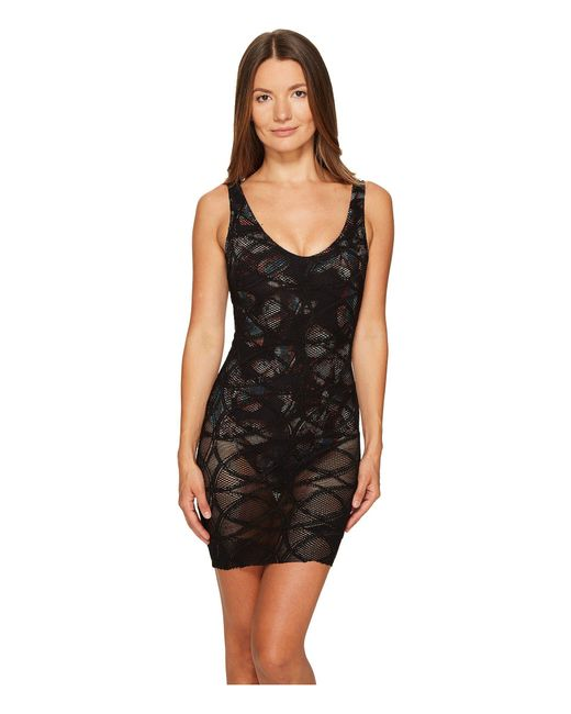 Fuzzi | Black One-piece Lace Overlay Butterfly Bathing Suit | Lyst