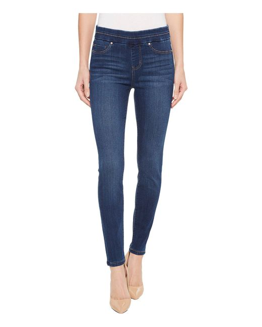 Liverpool Jeans Company - Blue Zoe Ankle Pull-on Leggings In Silky Soft Denim In Elysian Dark - Lyst