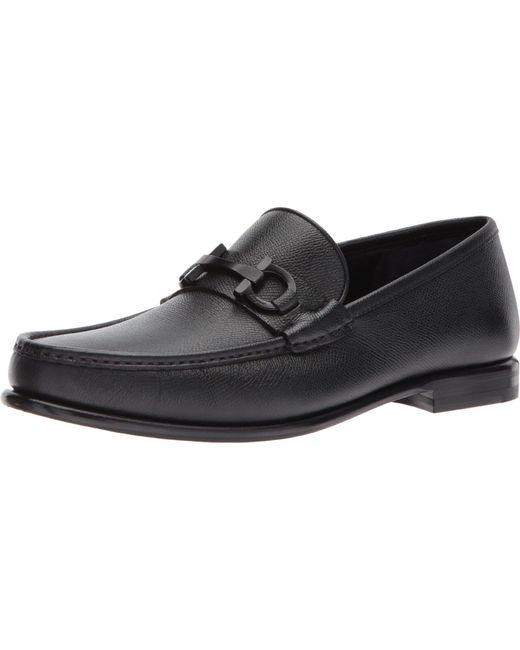 Ferragamo Leather Crown Bit Loafer in