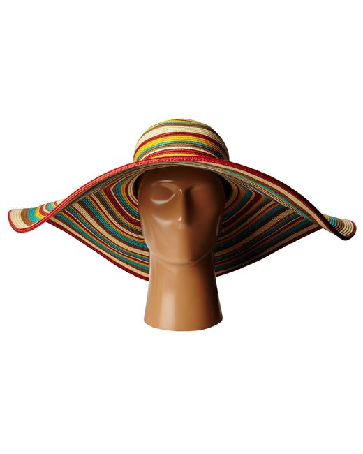 5302cbb9326 ... San Diego Hat Company - Brown Ubx2721 Striped Floppy 8 Inch Brim Sun Hat  (multi ...