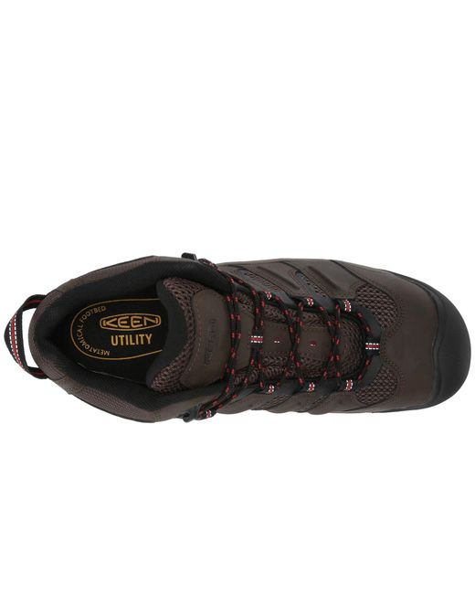 Keen Utility Brown Lansing Mid Waterproof Steel Toe for men