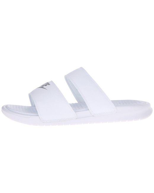 ... Nike - White Benassi Duo Ultra Slide - Lyst ...