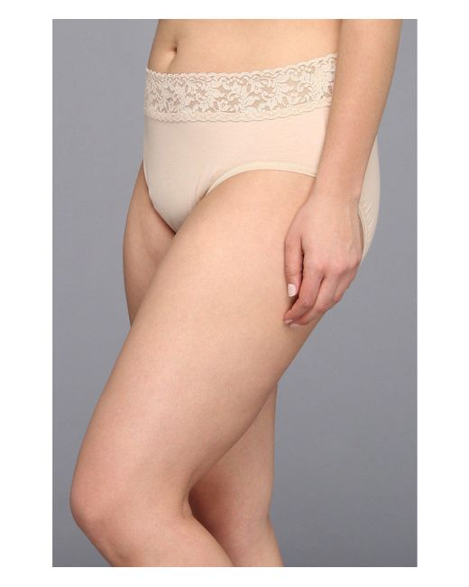 08148bc071e ... Hanky Panky - Natural Plus Size Organic Cotton Signature Lace French  Brief (chai) Women s ...
