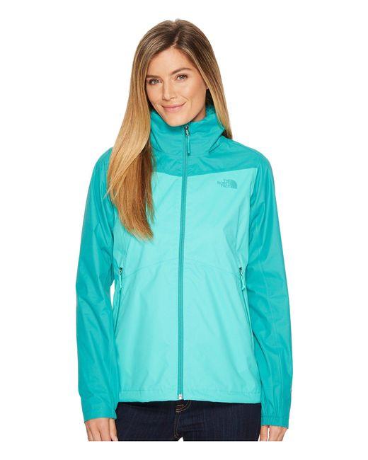 The North Face - Green Resolve Plus Jacket (mid Grey/tnf Black (prior Season)) Women's Coat - Lyst