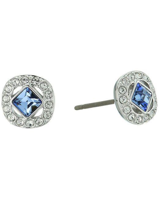 Swarovski Blue Angelic Pierced Earrings White Earring Lyst