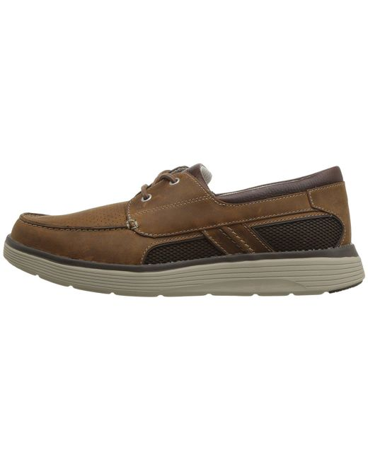 86577f22f57 ... Clarks - Brown Un Abode Step (dark Tan Leather) Men s Slip On Shoes for  ...