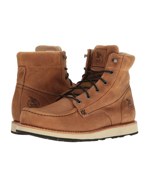"""Georgia Boot - Brown Small Batch 6"""" Moc Toe Wedge for Men - Lyst"""