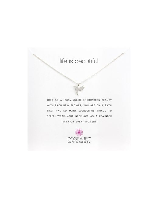 Dogeared - Metallic Life Is Beautiful Hummingbird Reminder (gold) Necklace - Lyst