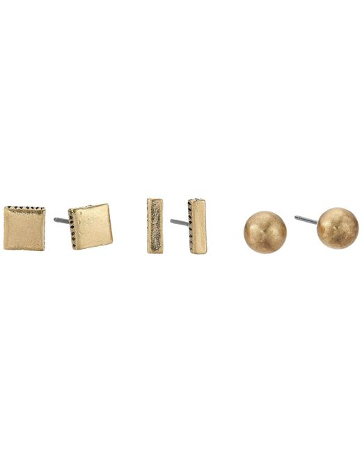 The Sak - Metallic Geo Stud Set Earrings - Lyst