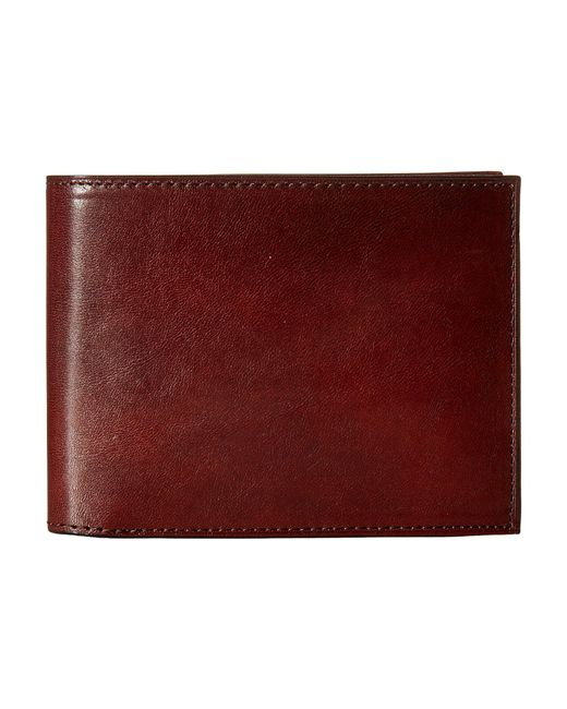 Bosca - Brown Old Leather Collection - Continental Id Wallet (cognac Leather) Bi-fold Wallet for Men - Lyst