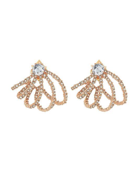 Alexis Bittar - Metallic Crystal Lace Orbiting Post Earrings (rhodium) Earring - Lyst