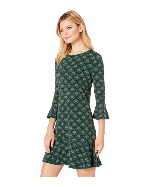 9238c76dbbd46 ... MICHAEL Michael Kors - Green Chandelier Scallop Flounce Sleeve Dress  (dark Emerald) Women s Dress ...