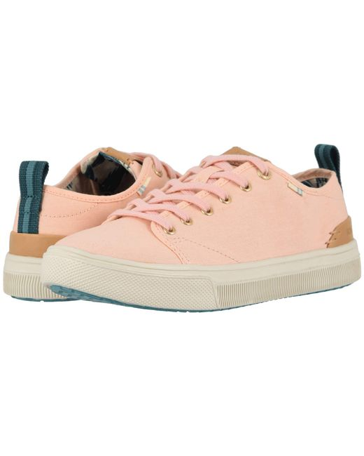 0db6a2c6175 Lyst - TOMS Trvl Lite Low (birch Canvas) Women s Shoes in Pink