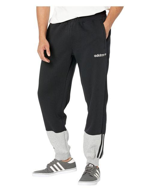Adidas Originals Black 3-stripes Split Sweatpants for men