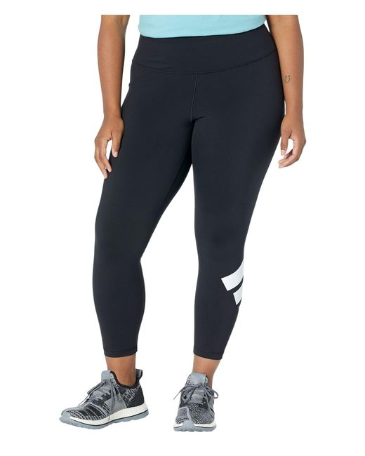Adidas Black Plus Size Believe This 2.0 3-bar 7/8 Tights