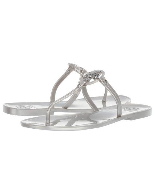 Tory Burch Metallic Mini Miller Jelly Sandals