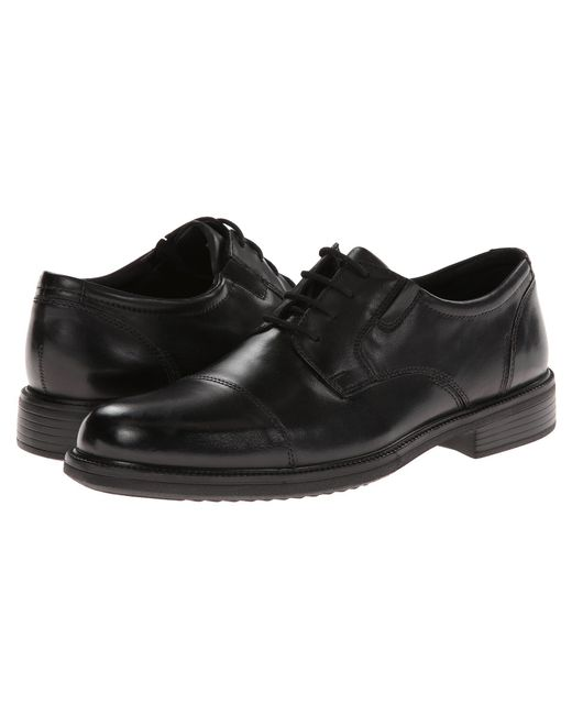 Bostonian - Black Bardwell Limit (brown Leather) Men's Lace Up Cap Toe Shoes for Men - Lyst