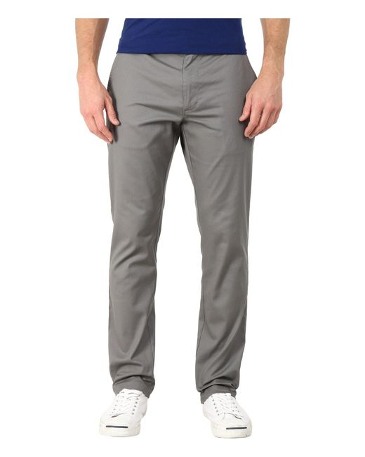 RVCA | Gray The Week-end Stretch Pants for Men | Lyst