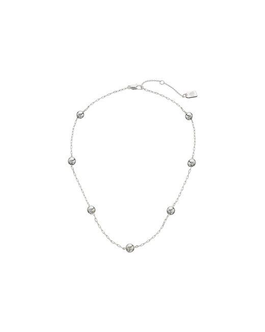 """Lauren by Ralph Lauren - Metallic Metal Bead 16"""" Station Necklace - Lyst"""