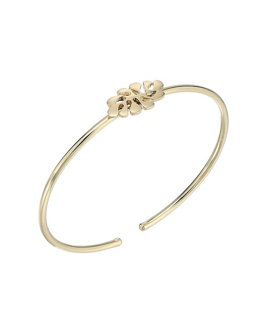 Amazona Secrets 18kt Gold Savannah Leaf Hoop Bracelet