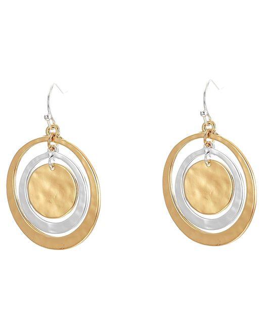 Robert Lee Morris | Metallic Orbital Circle Drop Earrings | Lyst