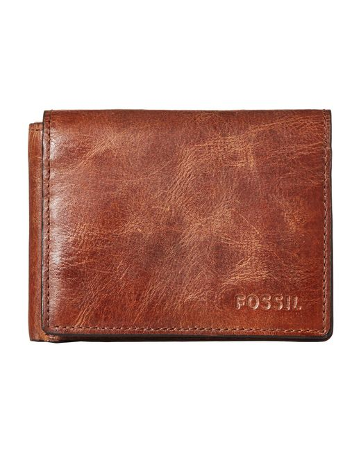 Fossil - Brown Derrick Execufold for Men - Lyst