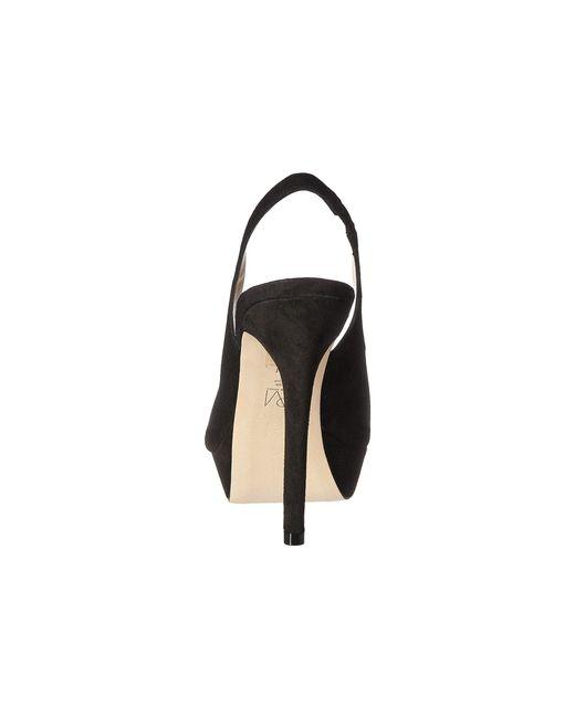 04f918919fc ... Pelle Moda - Oana Slingback Platform Sandal Black Suede - Lyst ...