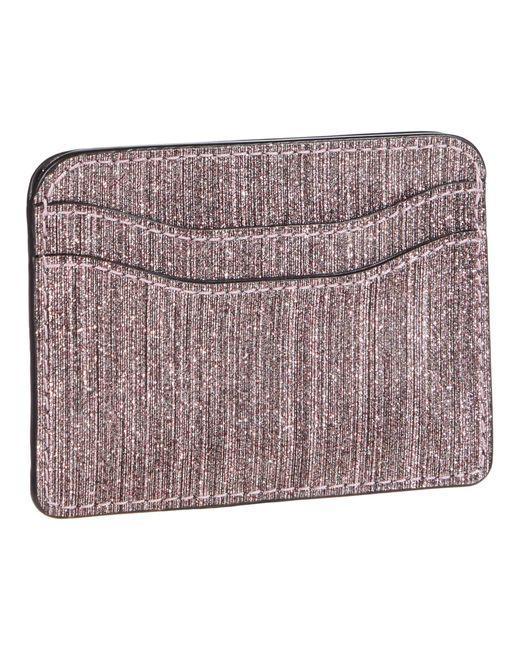 Marc Jacobs Pink Snapshot Glitter Stripe New Card Case