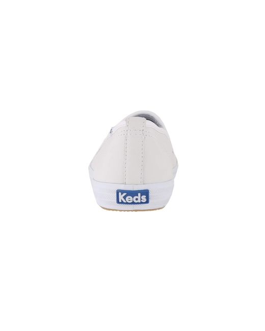 c751e93a4d14b ... Keds - Champion-leather Slip-on (white Leather) Women s Flat Shoes ...
