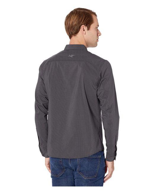 Arc'teryx Gray Kaslo Shirt Long Sleeve for men
