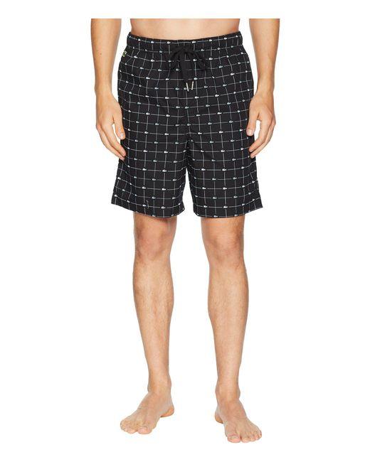 Lacoste - Black Sleep Shorts Woven for Men - Lyst