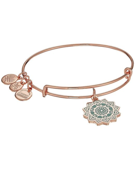 ALEX AND ANI - Multicolor The Heart Chakra Bangle (shiny Rose) Bracelet - Lyst