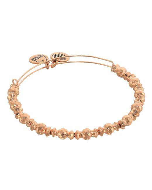 ALEX AND ANI - Metallic Canyon Bangle (shiny Rose Gold Finish) Bracelet - Lyst