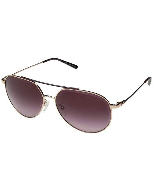 95a40a59b90a4b Michael Kors - Metallic 0mk1041 60mm (shiny Rose Gold cordovan Gradient)  Fashion Sunglasses ...