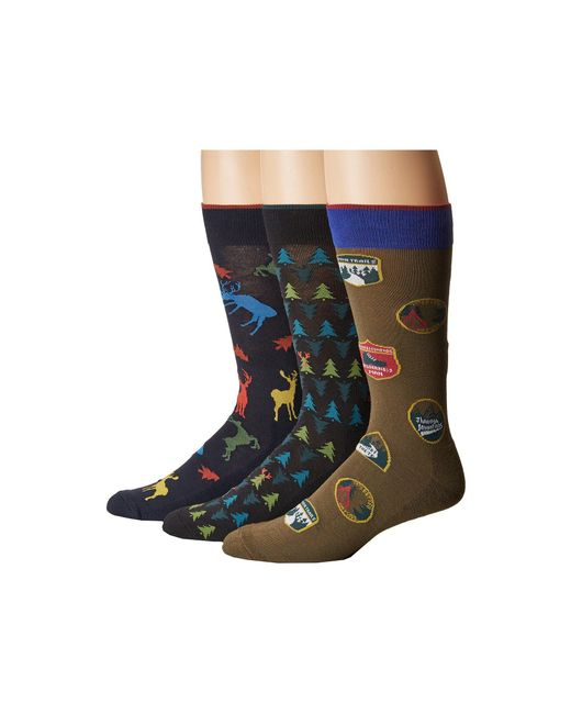 Hue | Blue Big Buck Socks With Half Cushion 3-pack for Men | Lyst