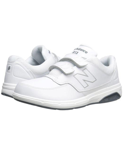 New Balance White Mw813v1 Hook And Loop Walking Shoe for men