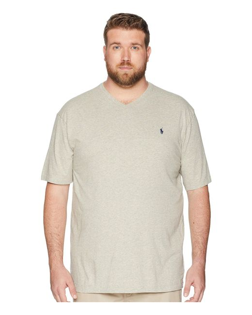 Polo Ralph Lauren - Gray Big And Tall Classic V-neck T-shirt (new Grey Heather) Men's T Shirt for Men - Lyst