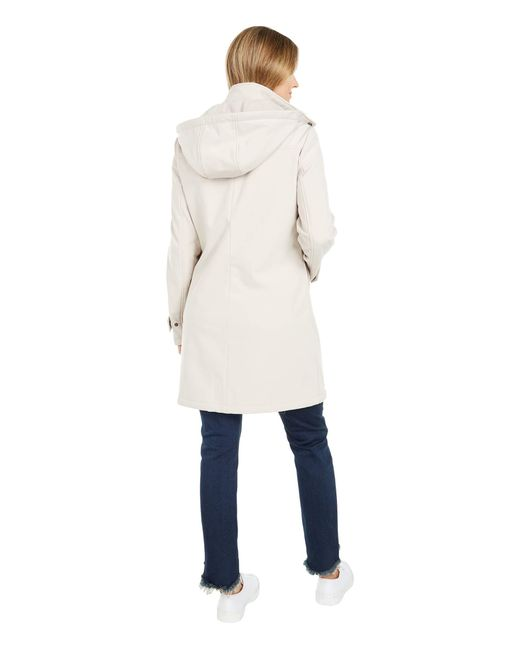 Calvin Klein Natural Hooded Water Resistant Jacket With Button Front Placket