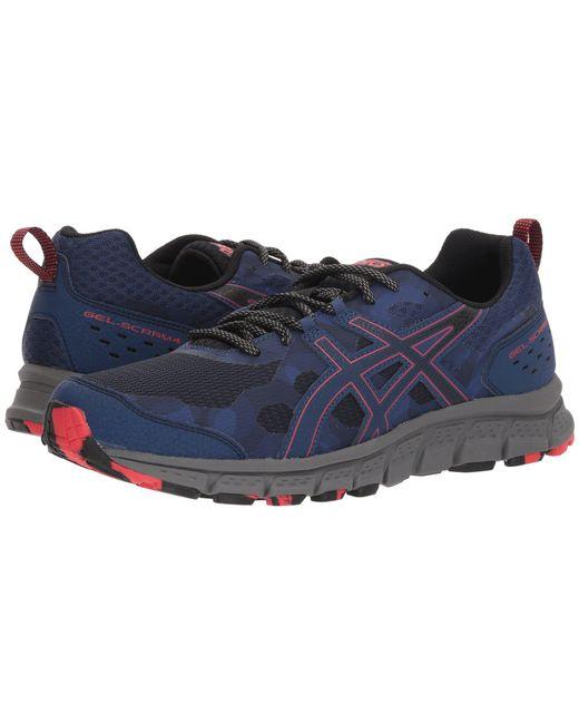 Asics - Blue Gel-scram 4 (black/black) Men's Running Shoes for Men - Lyst