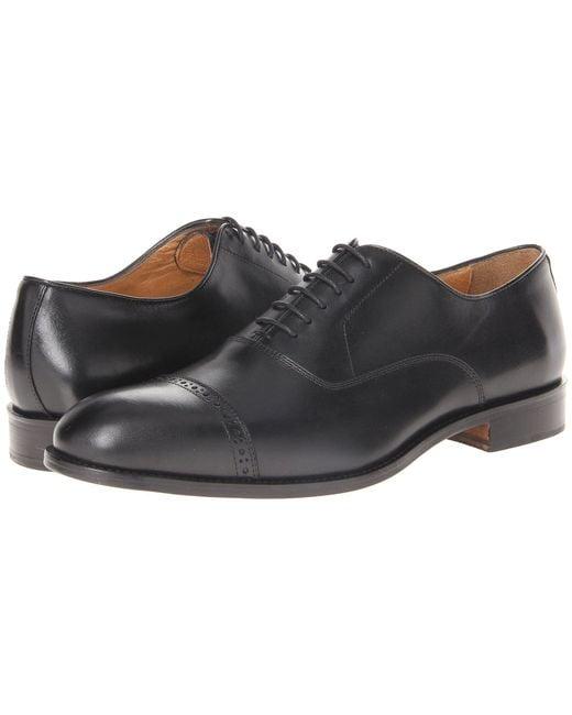 Massimo Matteo - Black 6-eye Bal Cap Toe (tan) Men's Lace Up Cap Toe Shoes for Men - Lyst