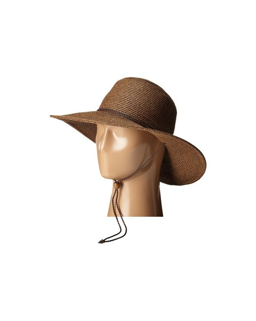 San Diego Hat Company - Ubm4453 4 Inch Brim Sun Hat With Twisted Adjustable Chin Cord (brown) Caps - Lyst