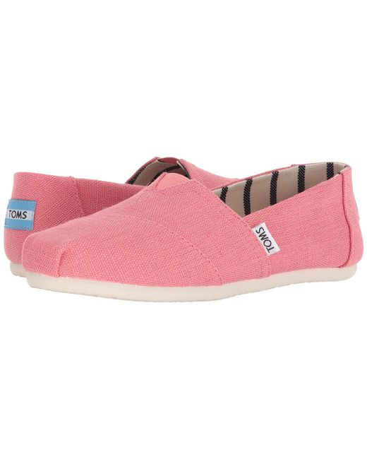 a5ef42befd2b0a TOMS - Pink Venice Collection Alpargata (aqua Glass Heritage Canvas)  Women s Slip On Shoes ...