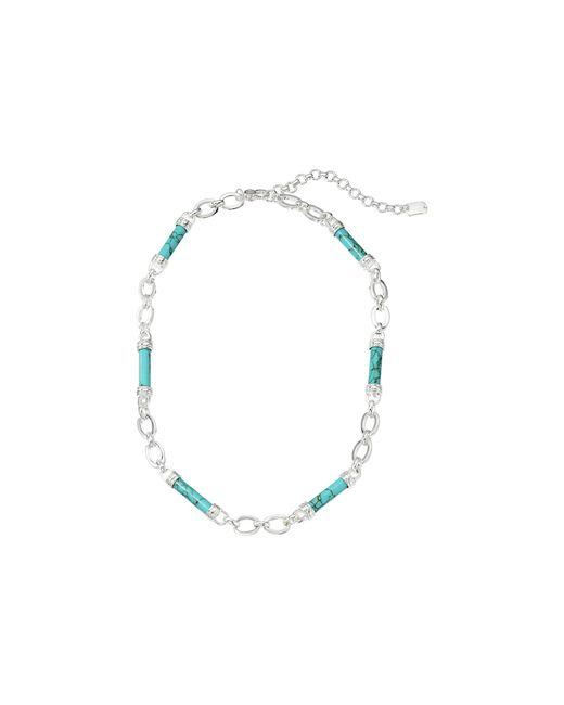 Lauren by Ralph Lauren Blue 16 Barrel Frontal Necklace