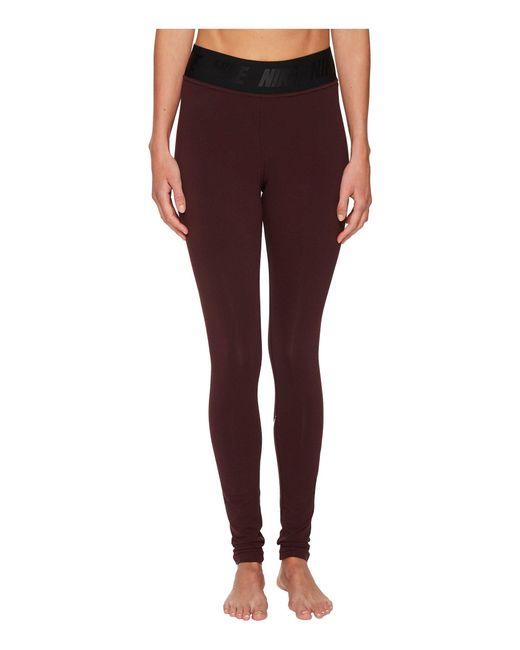 Nike - Purple Sportswear Leg-a-see High Waist Legging (olive Canvas/white) Women's Casual Pants - Lyst