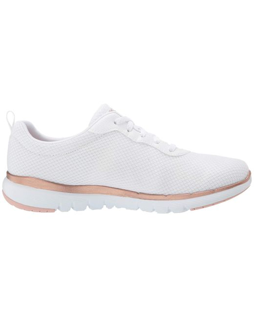 3a415aca51f Lyst - Skechers Flex Appeal 3.0 First Insight Sneaker in White - Save 2%